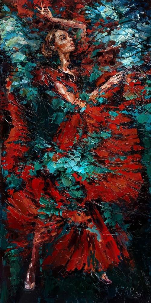 Obraz do salonu artysty Krystyna Róż-Pasek pod tytułem Pomiędzy