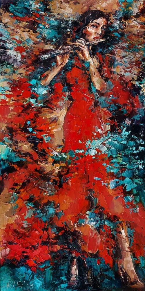 Obraz do salonu artysty Krystyna Róż-Pasek pod tytułem Kurtuazja