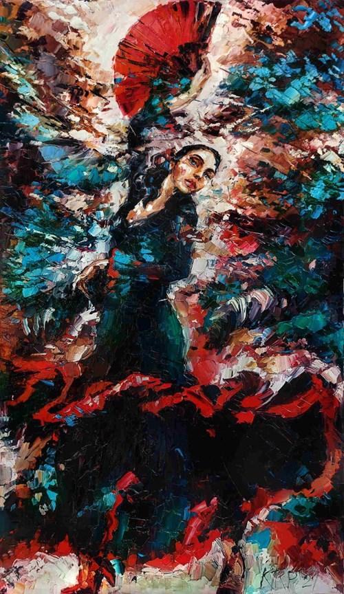 Obraz do salonu artysty Krystyna Róż-Pasek pod tytułem Przebojowość