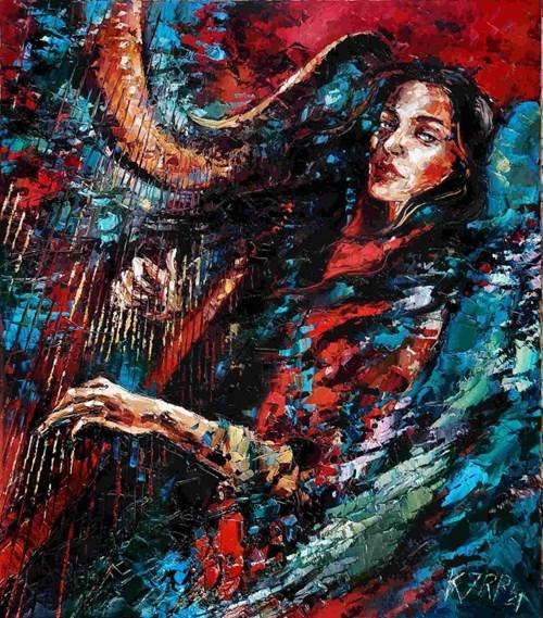 Obraz do salonu artysty Krystyna Róż-Pasek pod tytułem Orszak