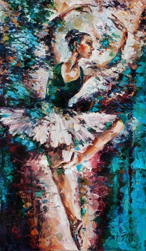 Obraz do salonu artysty Krystyna Róż-Pasek pod tytułem W blasku sławy