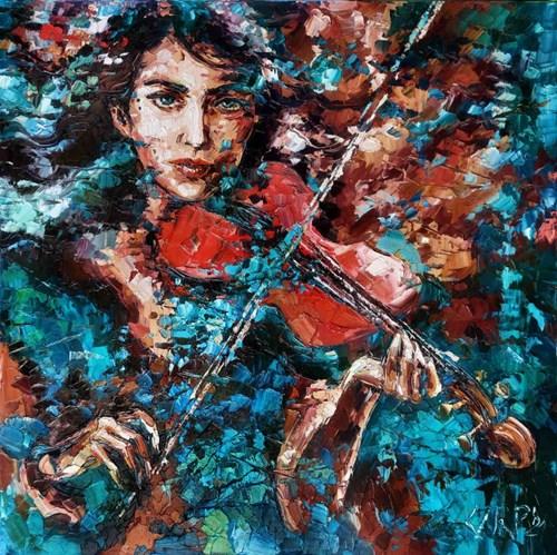 Obraz do salonu artysty Krystyna Róż-Pasek pod tytułem Tęsknota za dżwiękiem
