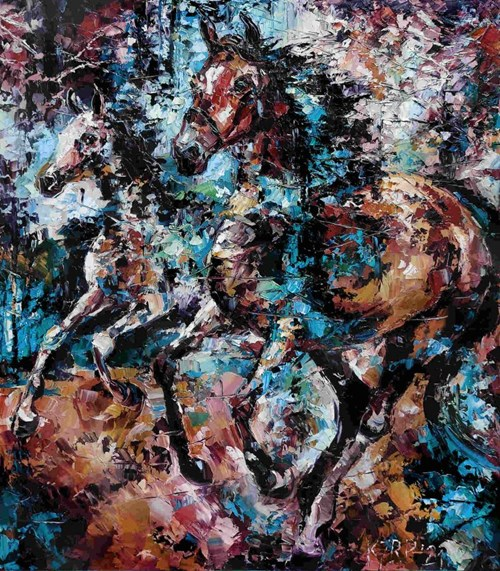 Obraz do salonu artysty Krystyna Róż-Pasek pod tytułem Dumny tętent