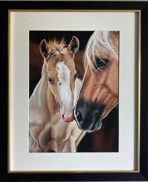 Obraz do salonu artysty Dominika Gardocka pod tytułem Duet