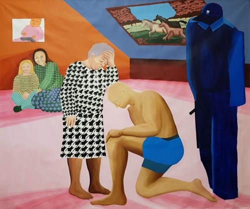 Obraz do salonu artysty Anna Grzymała pod tytułem Zdejmij mundur, przeproś matkę