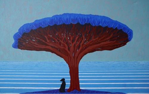 Obraz do salonu artysty Wojciech Pukocz pod tytułem Wielkie drzewo