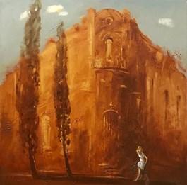 Living room painting by Aleksander Yasin titled Fading Memories