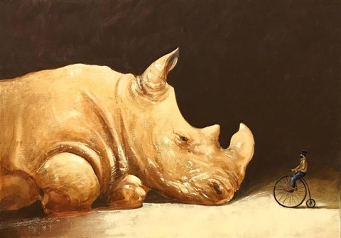 Obraz do salonu artysty Aleksander Yasin pod tytułem Rzeczywistość Pana Cogito