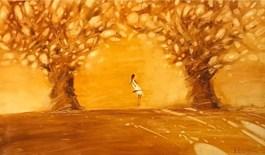 Living room painting by Aleksander Yasin titled Golden Autumn
