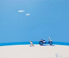 Obraz do salonu artysty Aleksander Yasin pod tytułem Nadmorski Hachiko