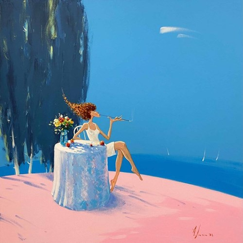 Obraz do salonu artysty Aleksander Yasin pod tytułem Płomienna delikatność