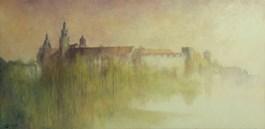 Obraz do salonu artysty Konrad Hamada pod tytułem Wawel o świcie