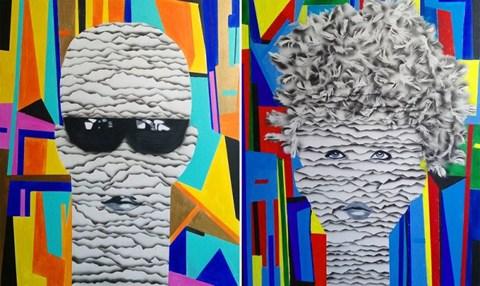 Obraz do salonu artysty Magdalena Karwowska pod tytułem Bez tytułu (dyptyk)