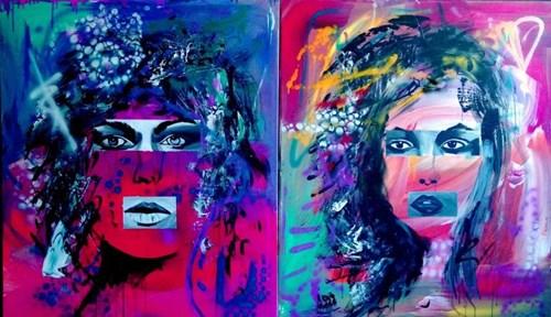 Obraz do salonu artysty Magdalena Karwowska pod tytułem Bez tytułu 3 (dyptyk)