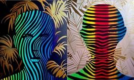 Obraz do salonu artysty Magdalena Karwowska pod tytułem Bez tytułu 4 (dyptyk)