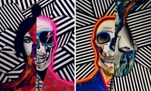 Obraz do salonu artysty Magdalena Karwowska pod tytułem Bez tytułu 7 i 8 (dyptyk)