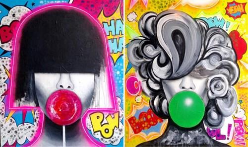 Obraz do salonu artysty Magdalena Karwowska pod tytułem Bez tytułu 3 & 4 (dyptyk)