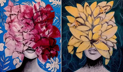 Obraz do salonu artysty Magdalena Karwowska pod tytułem Dyptyk 5&6