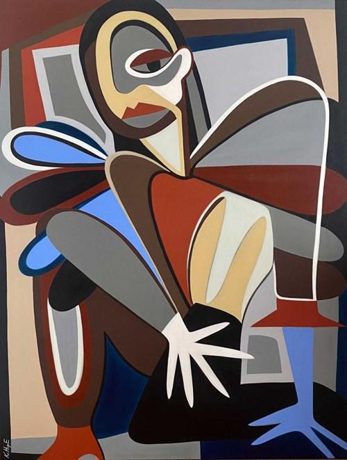 Obraz do salonu artysty Kate Hope pod tytułem Forma Fizyczna, W oczekiwaniu na