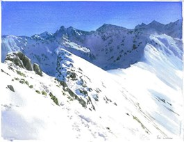 Obraz do salonu artysty Michał  Suffczyński pod tytułem Tatry zimowe