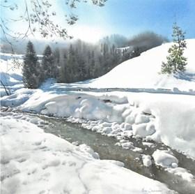 Winter Landscape from Homole