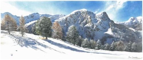 Obraz do salonu artysty Michał Suffczyński pod tytułem Dolomity, Val di Fassa
