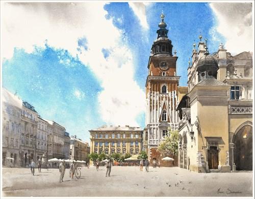 Obraz do salonu artysty Michał Suffczyński pod tytułem Krakowski Rynek