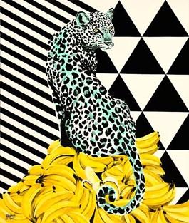 Obraz do salonu artysty Zuzanna Jankowska pod tytułem Bananowe trofeum