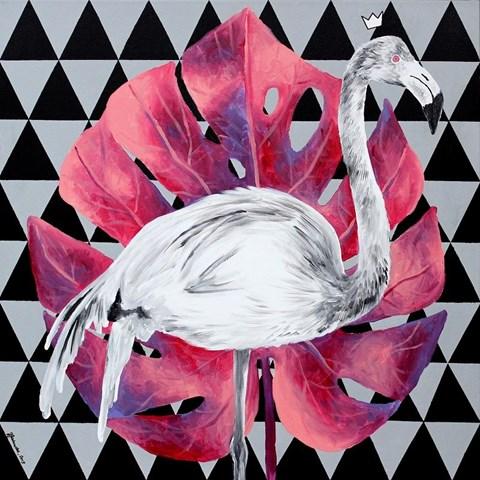 Obraz do salonu artysty Zuzanna Jankowska pod tytułem Lady Monstera