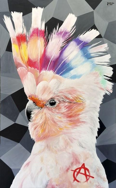 Obraz do salonu artysty Zuzanna Jankowska pod tytułem Punk is Alive