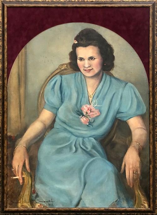 Obraz do salonu artysty Janusz Paweł Janowski pod tytułem Portret kobiety