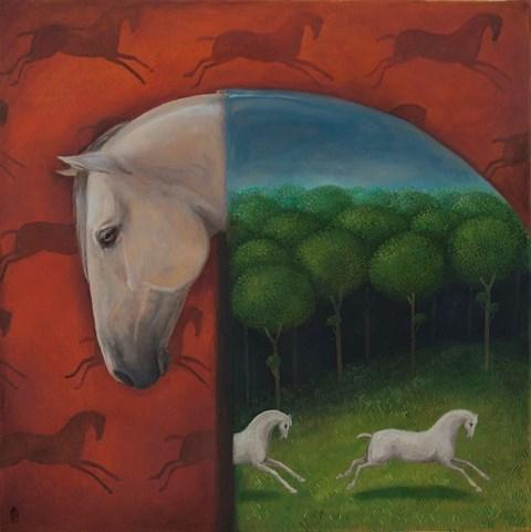 Obraz do salonu artysty Malwina de Brade pod tytułem Siwy
