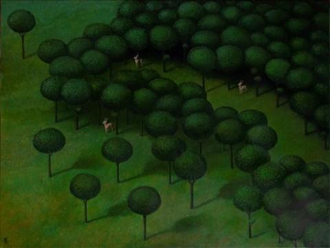 Obraz do salonu artysty Malwina de Brade pod tytułem Leśne historie