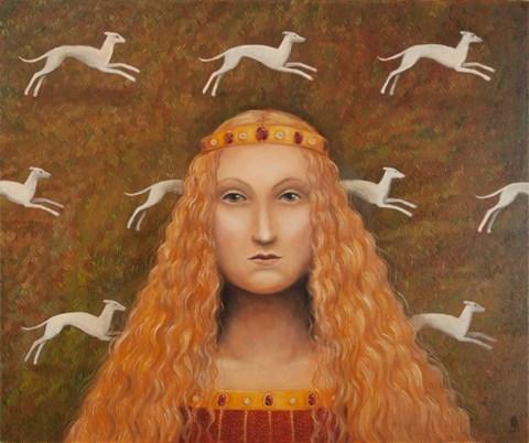 Obraz do salonu artysty Malwina de Brade pod tytułem Królowa