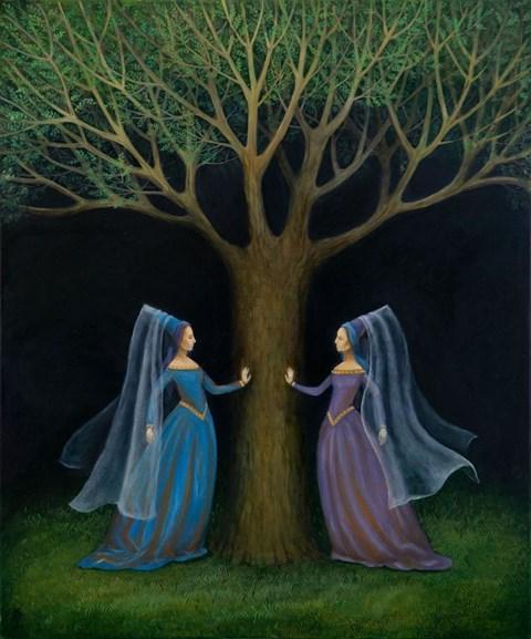 Obraz do salonu artysty Malwina de Brade pod tytułem Rozmowa