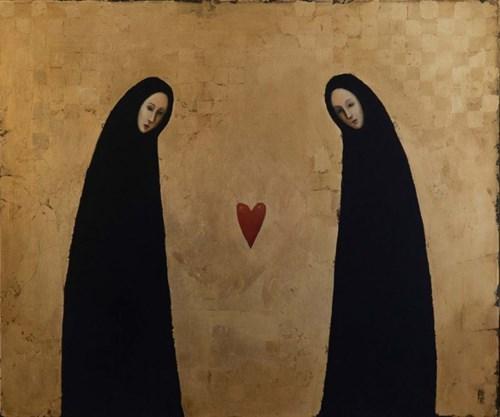 Obraz do salonu artysty Malwina de Brade pod tytułem Conversazione