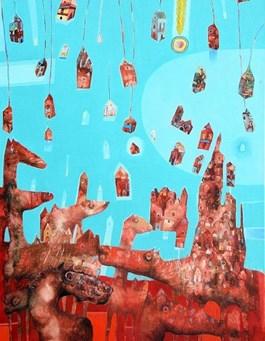 Obraz do salonu artysty Grzegorz Skrzypek pod tytułem Końmeta