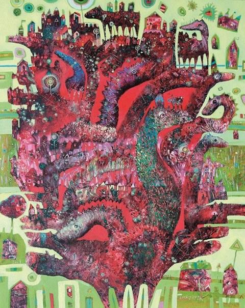 Obraz do salonu artysty Grzegorz Skrzypek pod tytułem Pawiostworek