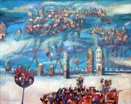 Obraz do salonu artysty Grzegorz Skrzypek pod tytułem Zimowe koniosmogi