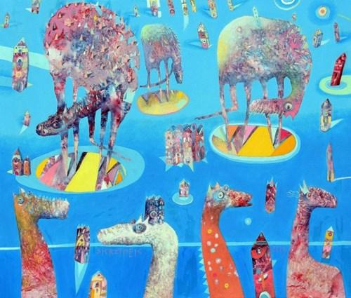 Obraz do salonu artysty Grzegorz Skrzypek pod tytułem Zanim opadnie kurtyna