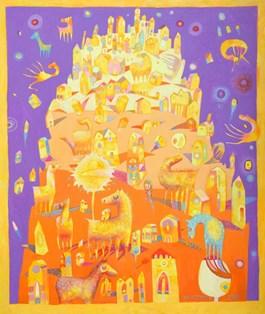Obraz do salonu artysty Grzegorz Skrzypek pod tytułem Opowieść o gravitowieży