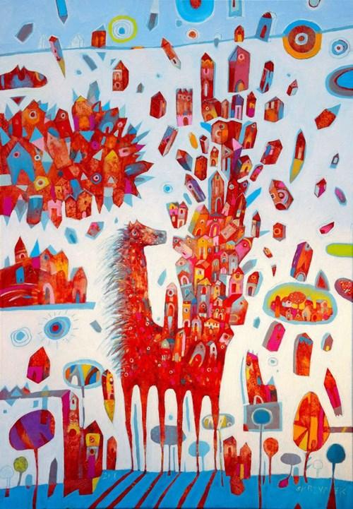 Obraz do salonu artysty Grzegorz Skrzypek pod tytułem Tam, gdzie rosną poziomki