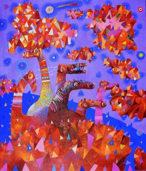 Obraz do salonu artysty Grzegorz Skrzypek pod tytułem Pochmurne Eldorado
