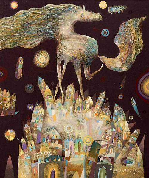 Obraz do salonu artysty Grzegorz Skrzypek pod tytułem Drugi sen nocy letniej