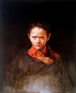 Obraz do salonu artysty Jan Dubrowin pod tytułem Czerwona bluzka
