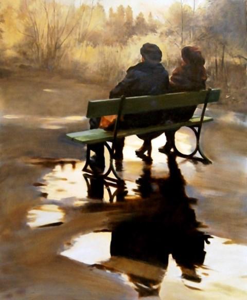 Obraz do salonu artysty Jan Dubrowin pod tytułem Jesień