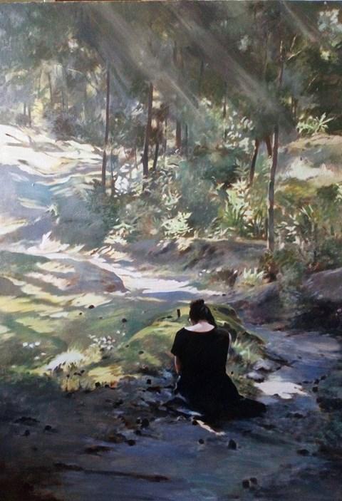Obraz do salonu artysty Jan Dubrowin pod tytułem Smutki Anny