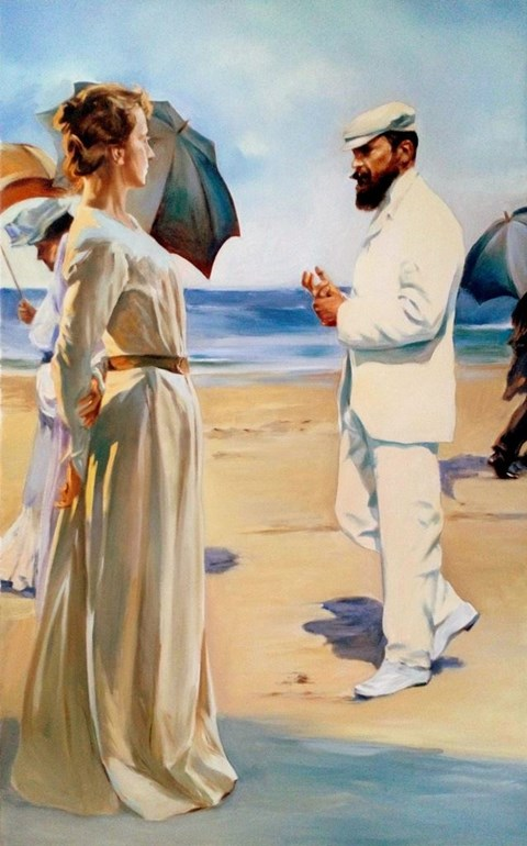 Obraz do salonu artysty Jan Dubrowin pod tytułem Dzień dobry, Panie Monet