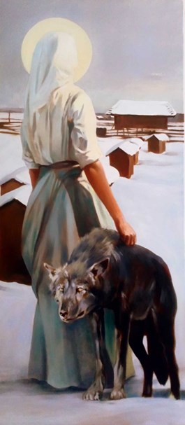 Obraz do salonu artysty Jan Dubrowin pod tytułem Gromniczna