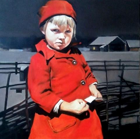 Obraz do salonu artysty Jan Dubrowin pod tytułem Czerwony kapturek